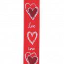 Band Pure Love, width 25mm, length 20m, red